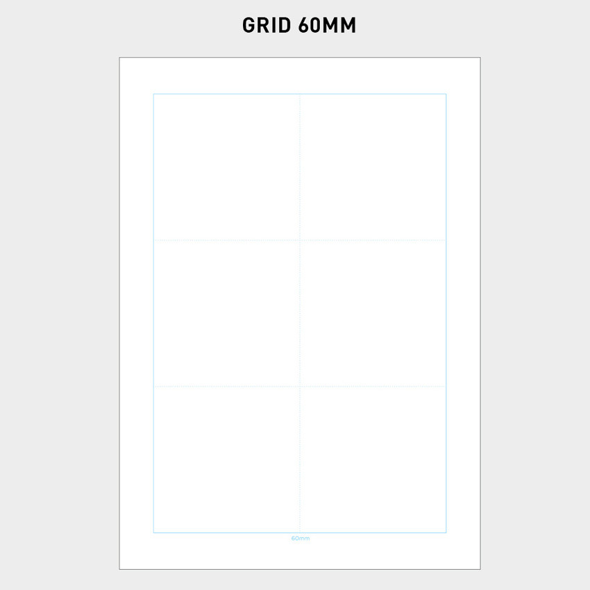 60mm - 2NUL Editor pick 6-ring grid note paper refill