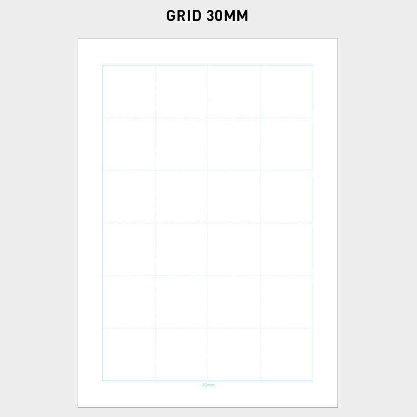 30mm- 2NUL Editor pick 6-ring grid note paper refill