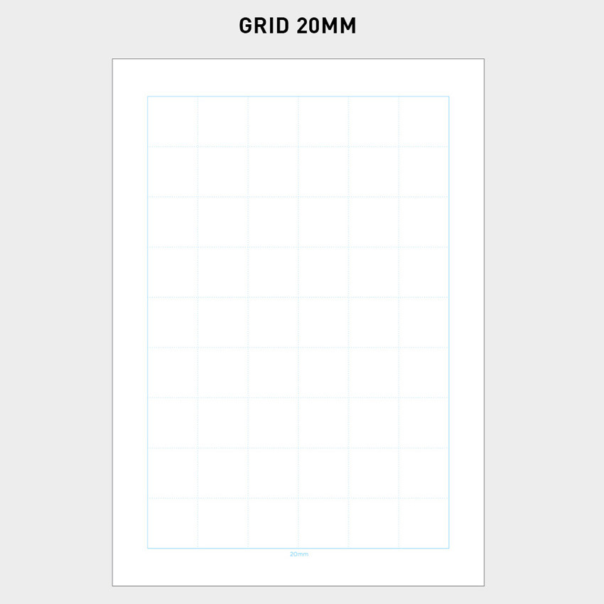 20mm - 2NUL Editor pick 6-ring grid note paper refill