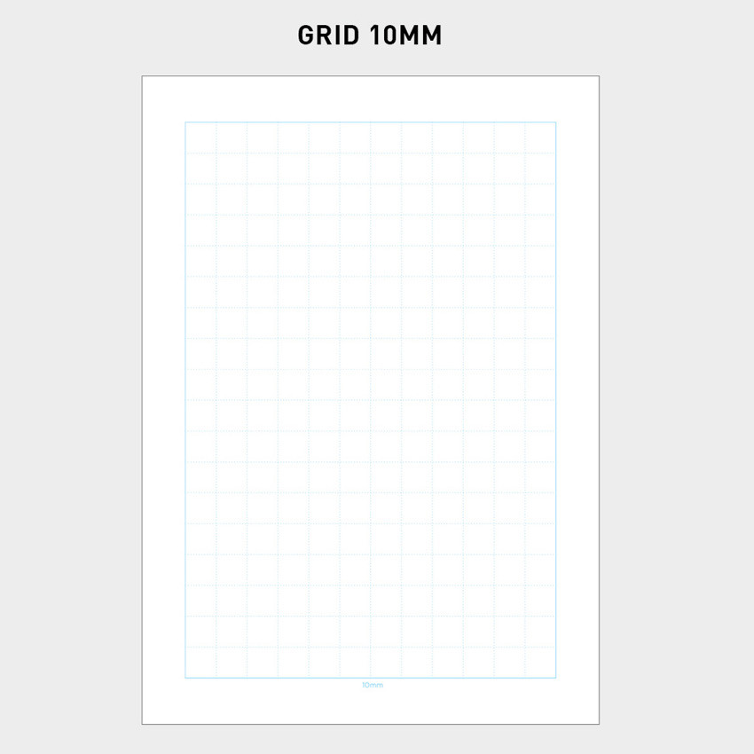 10mm - 2NUL Editor pick 6-ring grid note paper refill