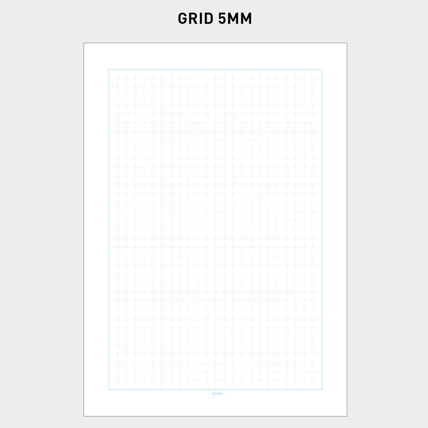 5mm - 2NUL Editor pick 6-ring grid note paper refill