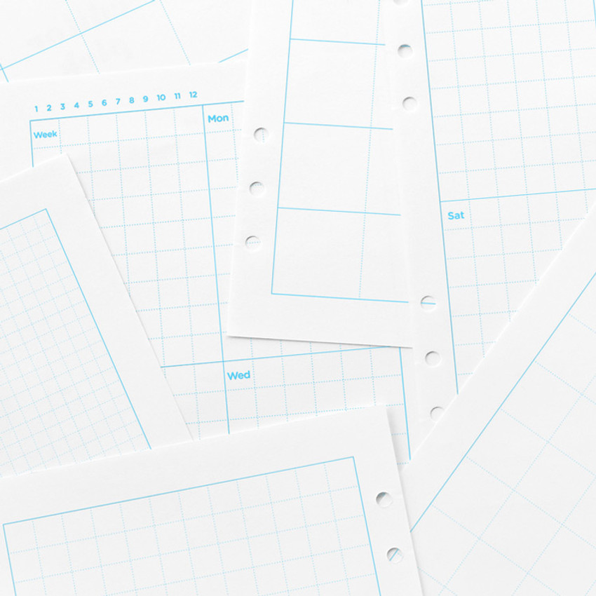 2NUL Editor pick 6-ring grid note paper refill