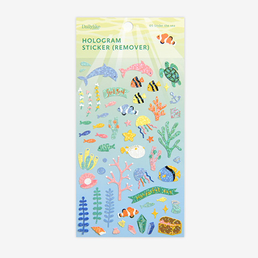 Package - Dailylike Under the sea hologram removable sticker