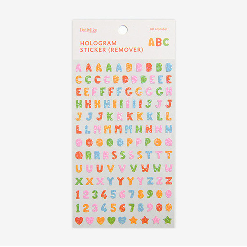 Package - Dailylike Alphabet hologram removable sticker