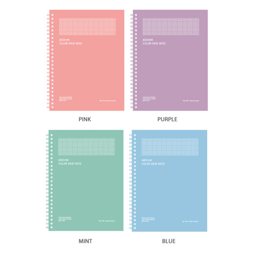 Color - Ardium Color spiral grid notebook 126 pages