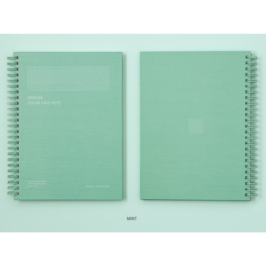 Mint - Ardium Color spiral grid notebook 126 pages