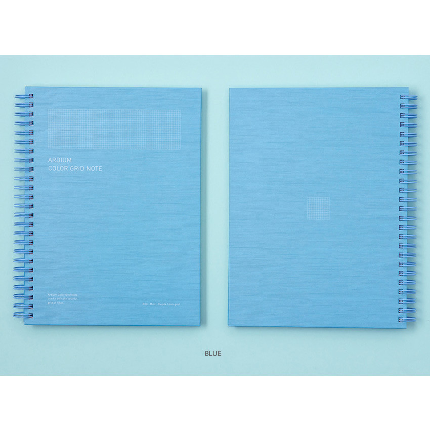 Blue - Ardium Color spiral grid notebook 126 pages