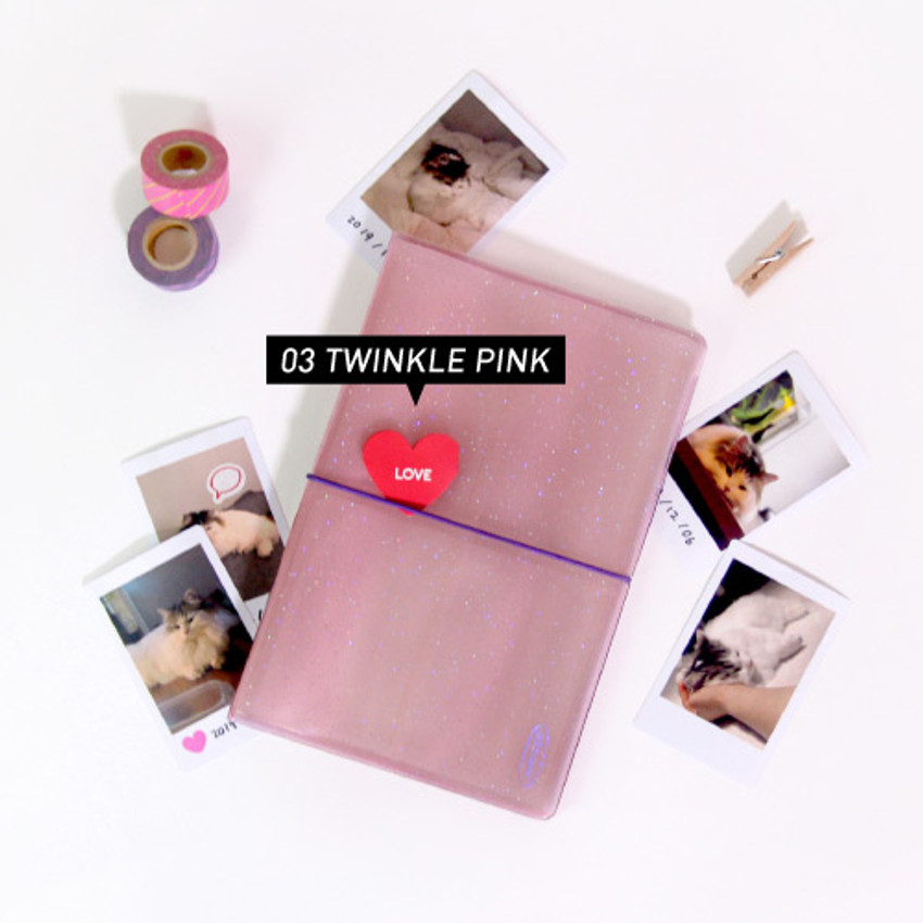 Twinkle pink - Jam Studio Moa Moa slip in pocket photo name card album