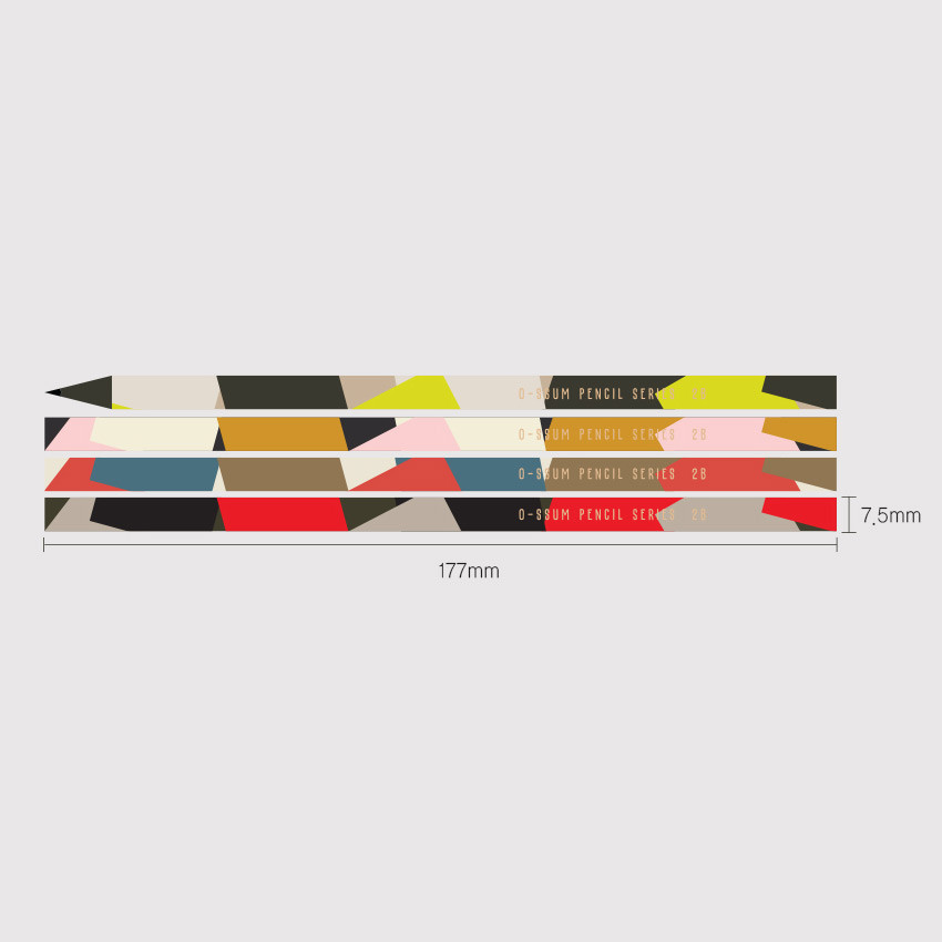 Size- Oh-ssumthing O-ssum black 2B pencil set of 4