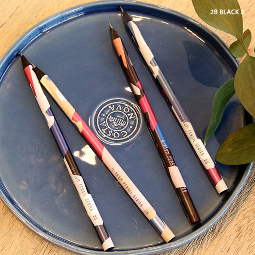 no.2 - Oh-ssumthing O-ssum black 2B pencil set of 4
