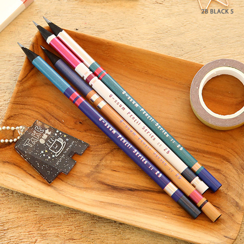 no.5 - Oh-ssumthing O-ssum black 2B pencil set of 4