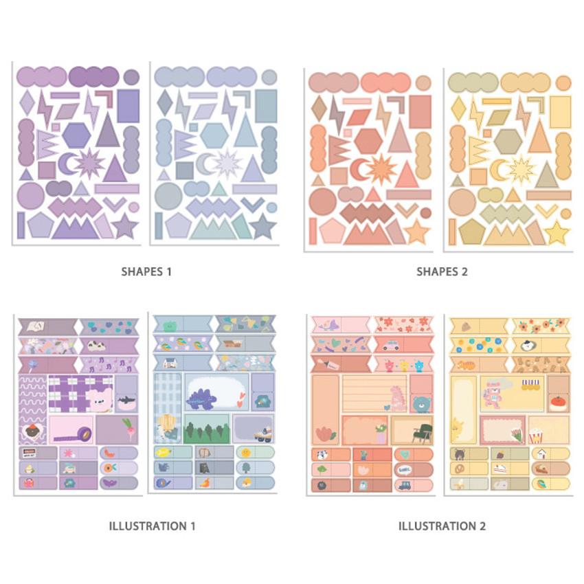 Option - Oh-ssumthing O-ssum colorchip deco craft sticker set
