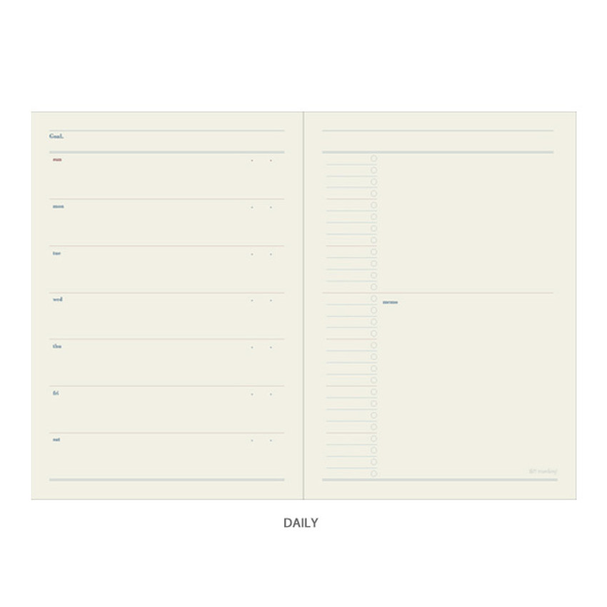 Daily - Oh-ssumthing O-ssum A5 cornell lined daily grid blank notebook