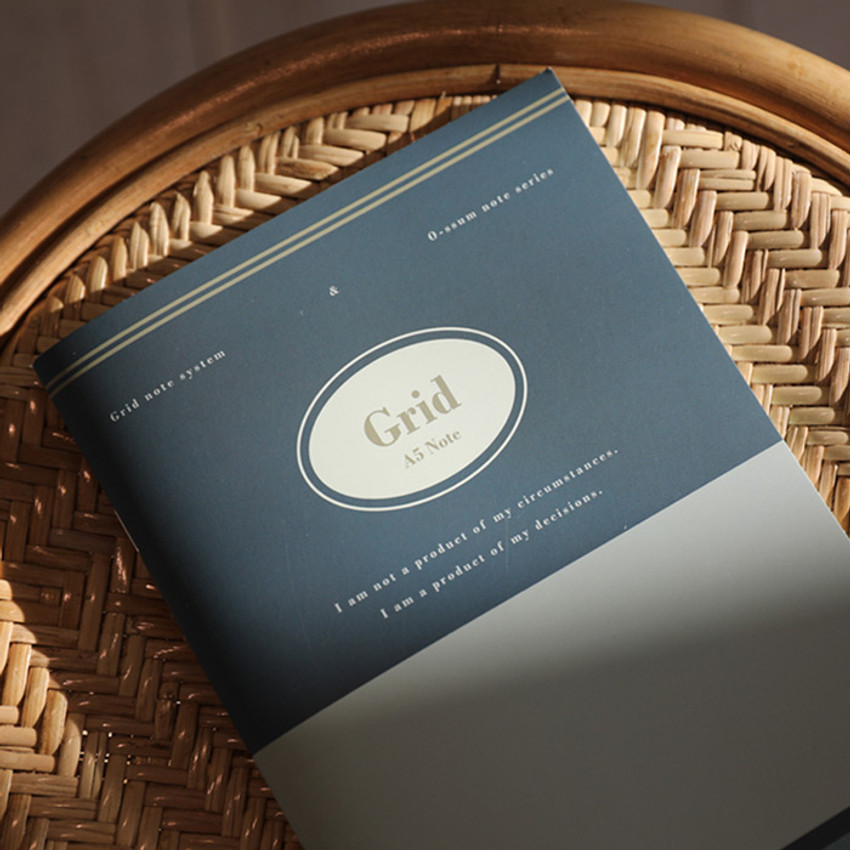 Grid - Oh-ssumthing O-ssum A5 cornell lined daily grid blank notebook