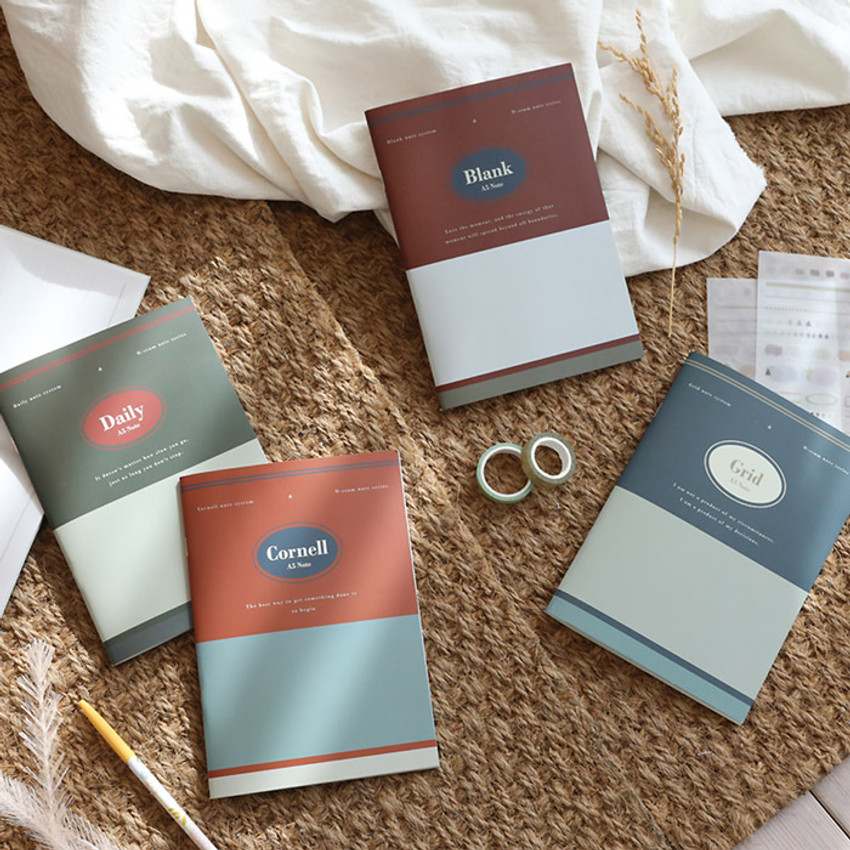 Oh-ssumthing O-ssum A5 cornell lined daily grid blank notebook