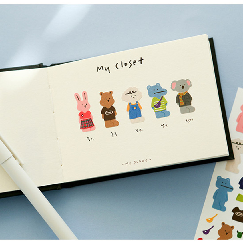 Usage example - Dailylike My buddy OOTD removable paper sticker