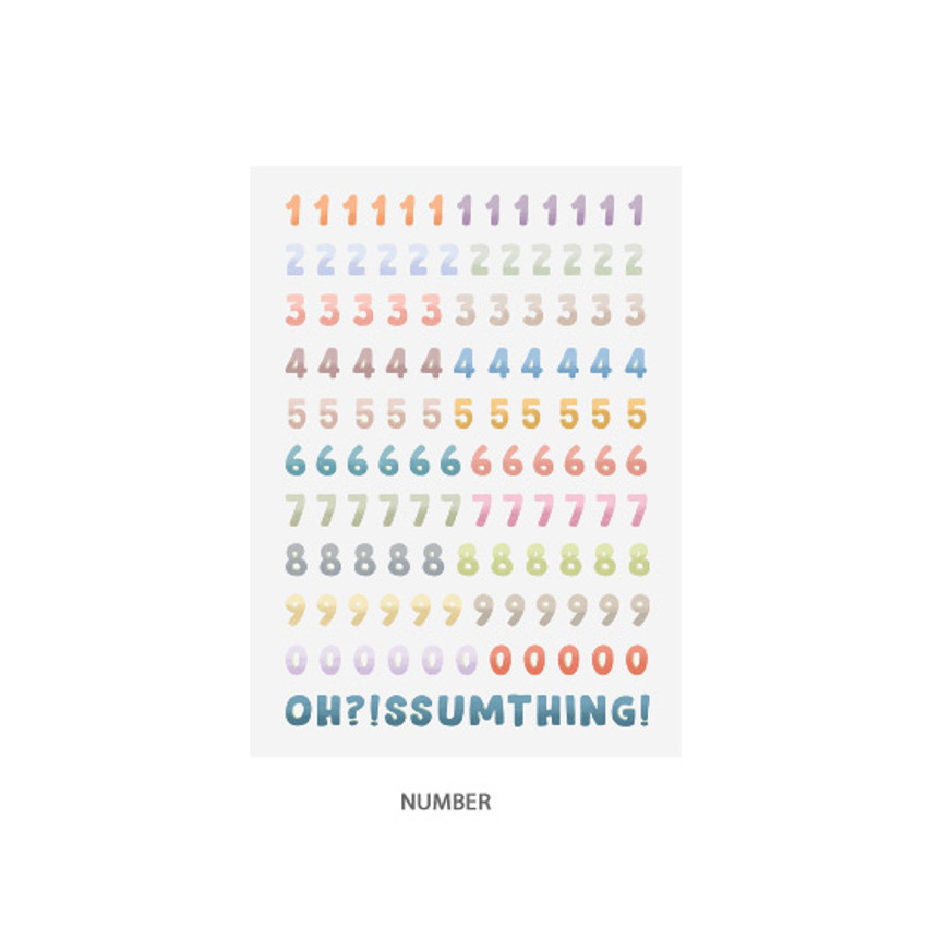 Number - Oh-ssumthing O-ssum sticker for decoration ver2