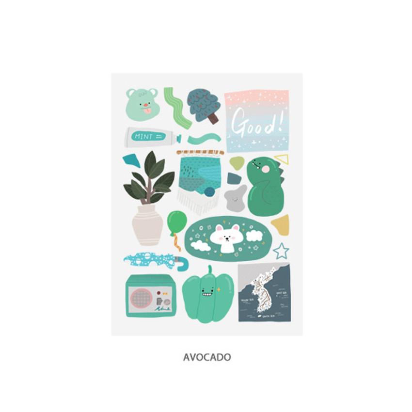 Avocado - Oh-ssumthing O-ssum sticker for decoration ver2