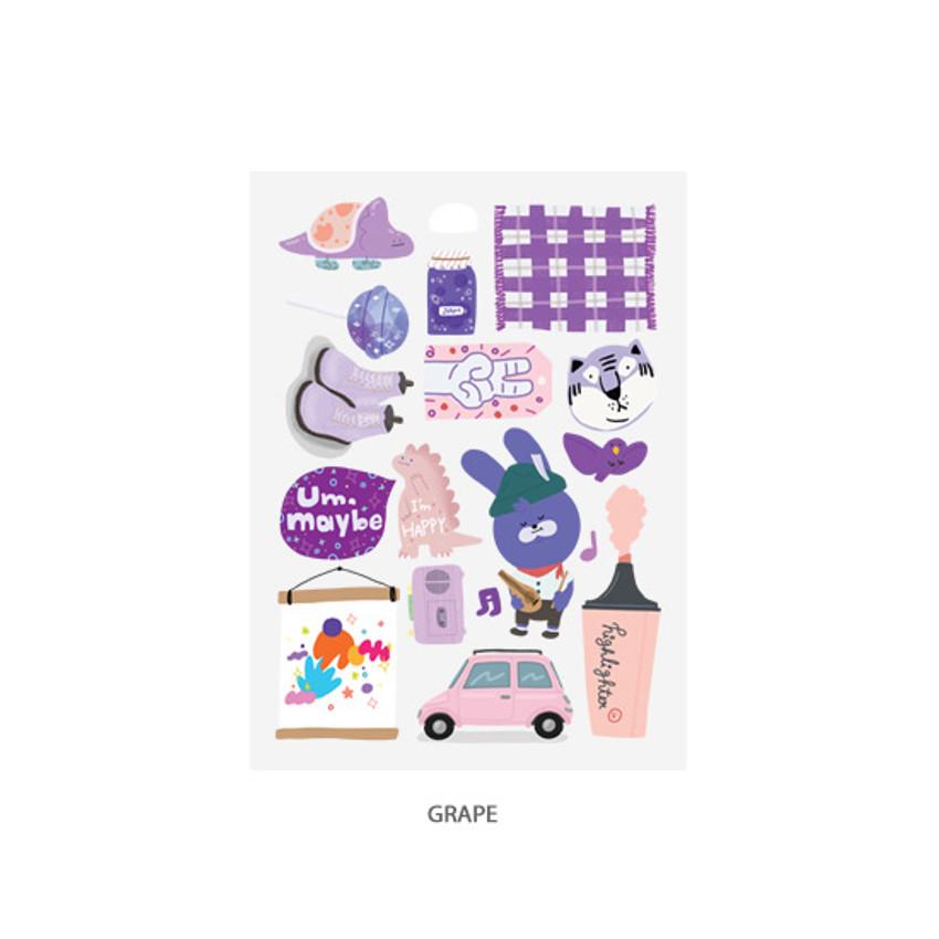 Grape - Oh-ssumthing O-ssum sticker for decoration ver2