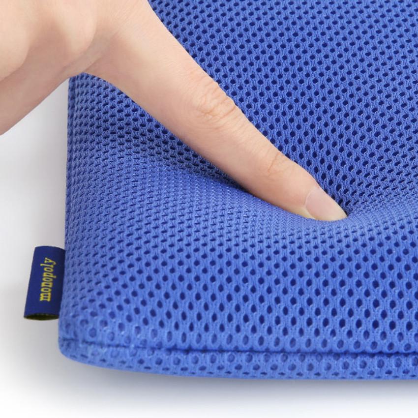 Extra padding layer - Monopoly Air mesh large plain zipper pouch bag