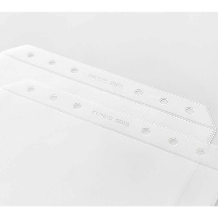 6 holes - 2NUL Zip slide pouch for A6 wide 6-ring binder