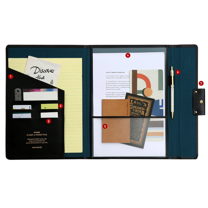 Pockets - Monopoly Grand new classy A-pocket file folder pouch bag
