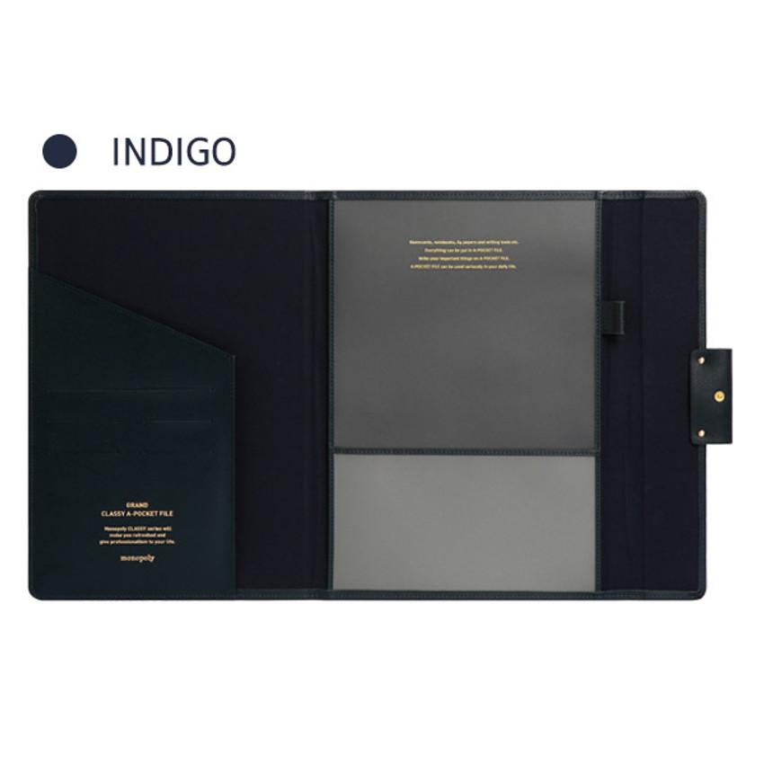 Indigo - Monopoly Grand new classy A-pocket file folder pouch bag