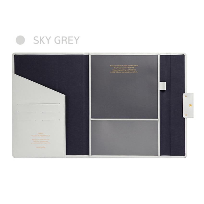 Sky Gray - Monopoly Grand new classy A-pocket file folder pouch bag