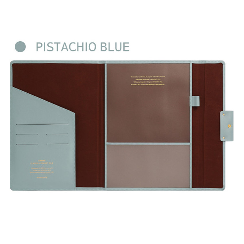 Pistachio Blue - Monopoly Grand new classy A-pocket file folder pouch bag