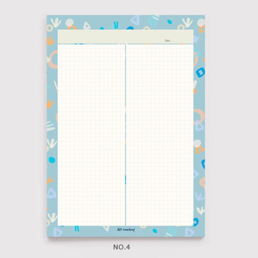 No.4 - Oh-ssumthing O-ssum B5 size grid memo notes notepad
