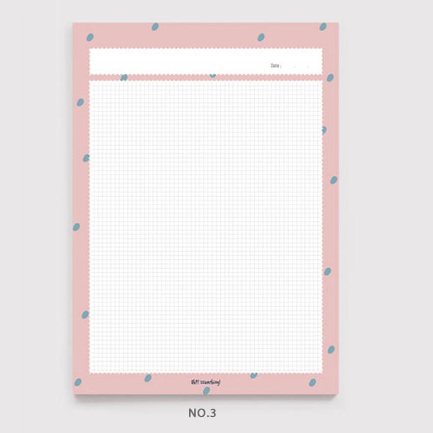No.3 - Oh-ssumthing O-ssum B5 size grid memo notes notepad