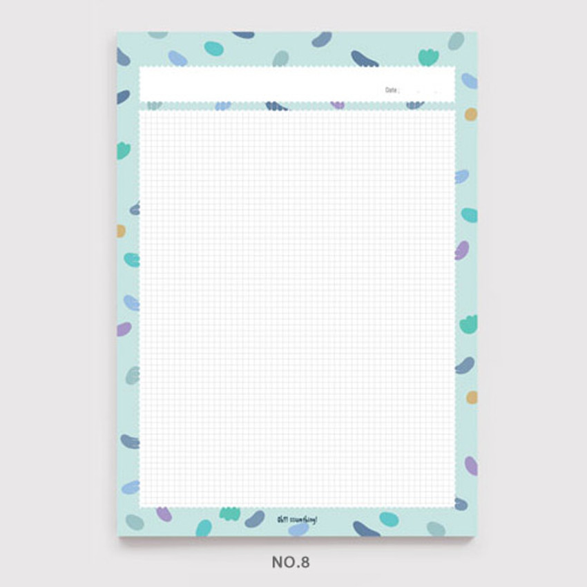 No.8 - Oh-ssumthing O-ssum B5 size grid memo notes notepad