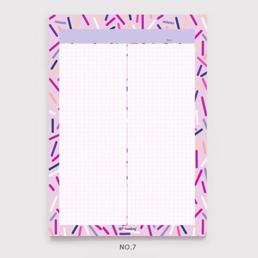 No.7 - Oh-ssumthing O-ssum B5 size grid memo notes notepad