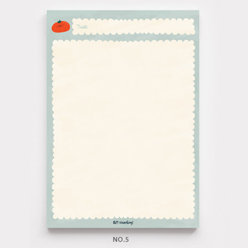 No.5 - O-ssum A5 size grid and blank notes memo notepad