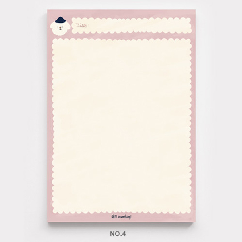 No.4 - O-ssum A5 size grid and blank notes memo notepad
