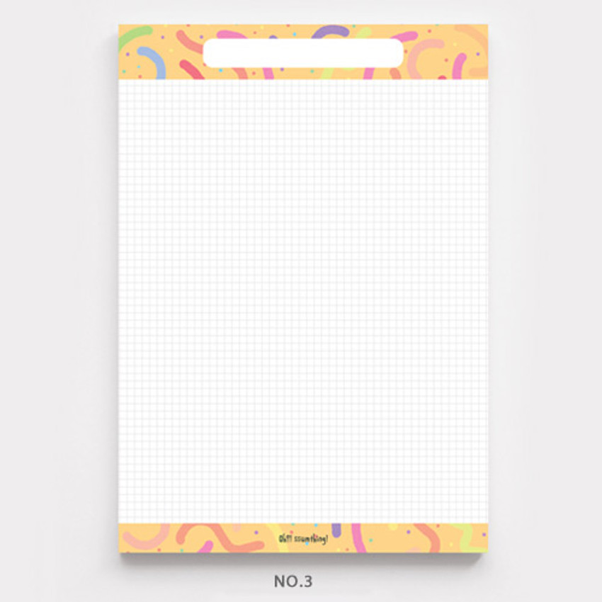 No.3 - O-ssum A5 size grid and blank notes memo notepad