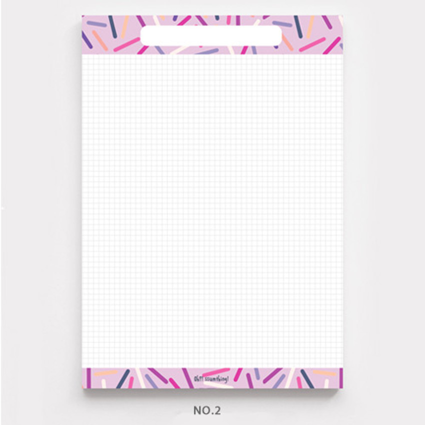 No.2 - O-ssum A5 size grid and blank notes memo notepad