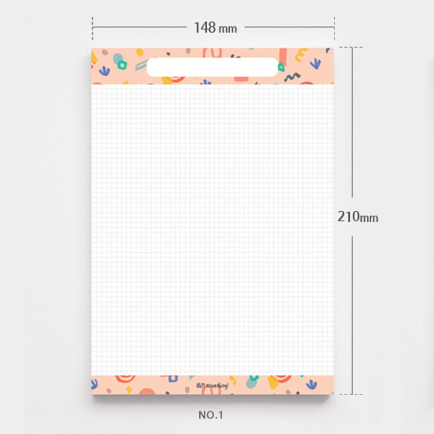 No.1 - O-ssum A5 size grid and blank notes memo notepad