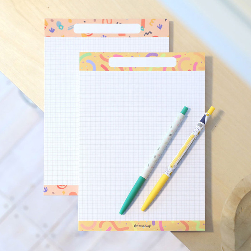 Usage example - O-ssum A5 size grid and blank notes memo notepad