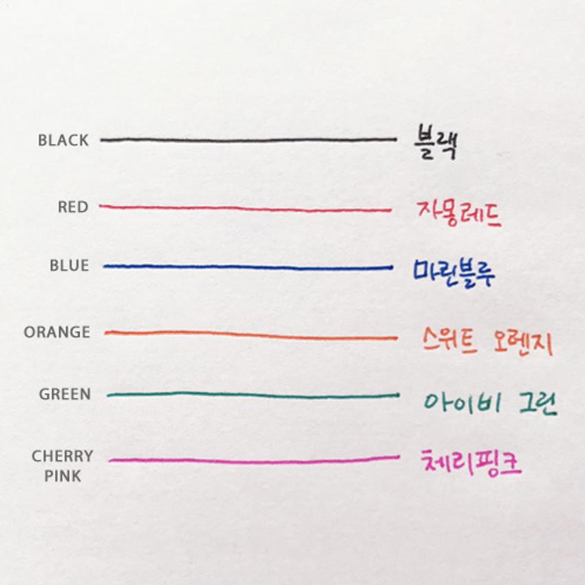 Colors - O-ssum slim knock retractable ballpoint gel pen