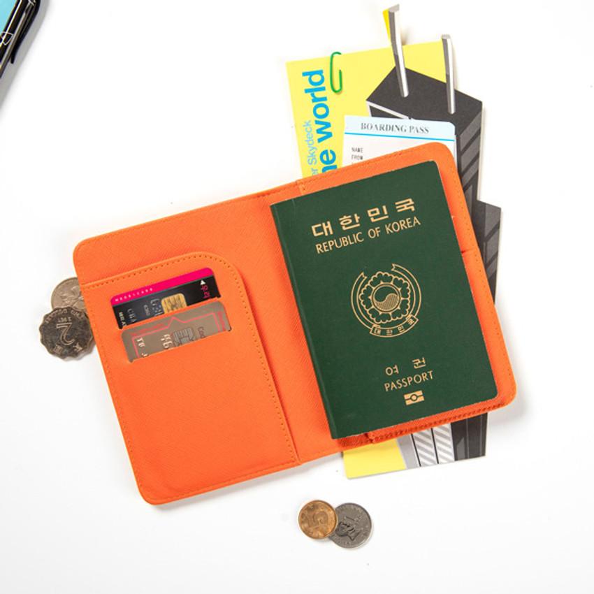 Stamp - DESIGN IVY Ggo deung o RFID blocking passport case ver2
