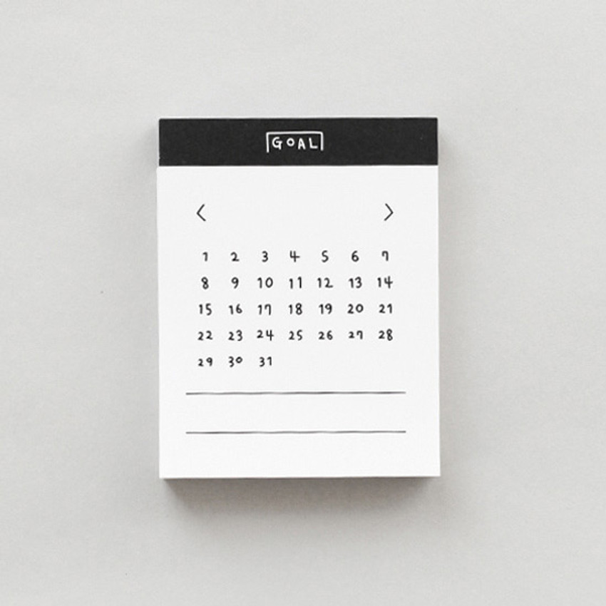 Goal - 2NUL Drawing memo checklist weekly plan notes notepad
