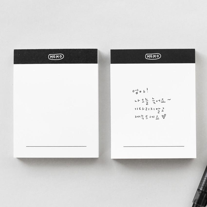 Memo - 2NUL Drawing memo checklist weekly plan notes notepad