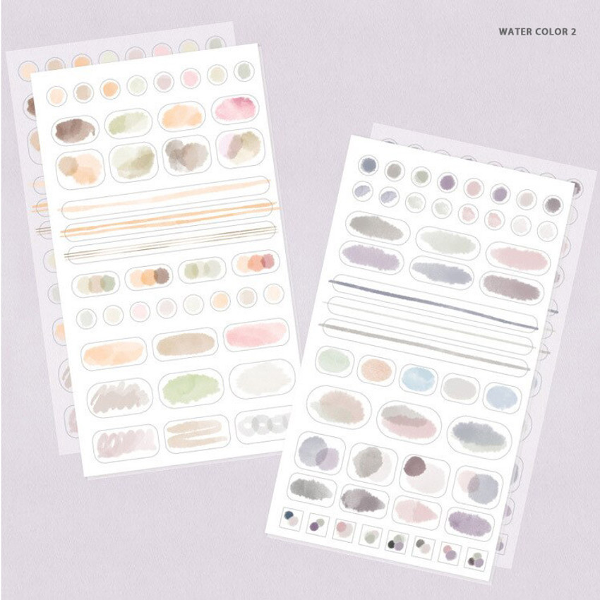 Water color 2 - Oh-ssumthing O-ssum sticker set for notes