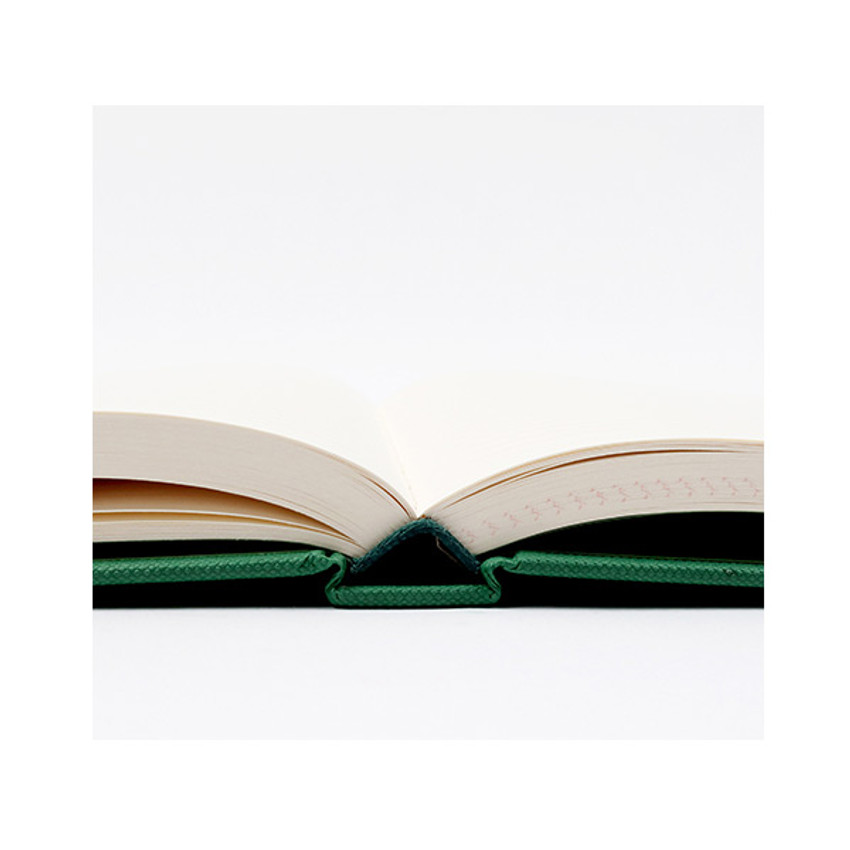 Opens flat - Anne large hardcover undated monthly planner notebook