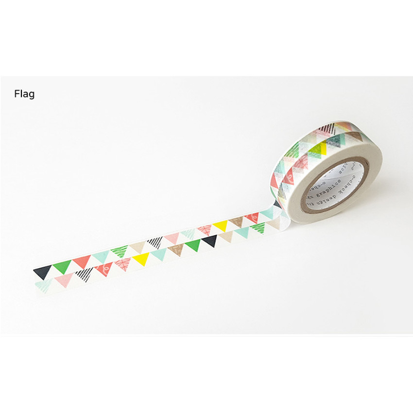 Flag - O-CHECK aDecorative craft 15mm X 10m masking tape