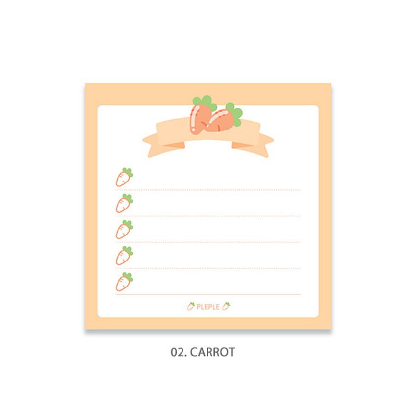 Carrot - PLEPLE Fruits ribbon memo notes checklist notepad