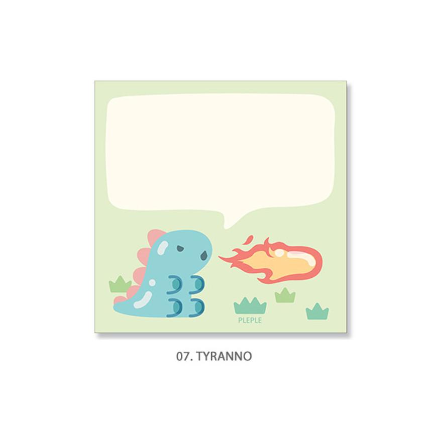 07. Tyranno - PLEPLE Bubble dino memo notes notepad