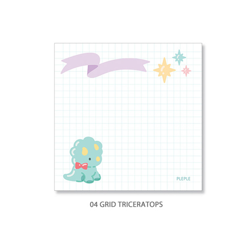 04. Triceratops - PLEPLE Bubble dino memo notes notepad
