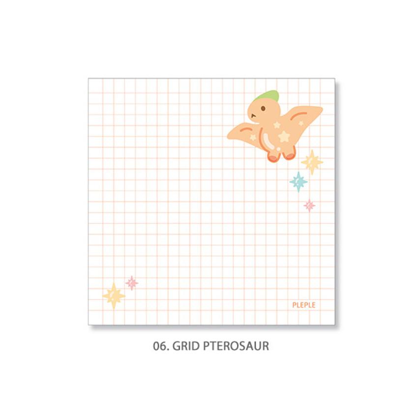 06. Grid Pterosaur - PLEPLE Bubble dino memo notes notepad